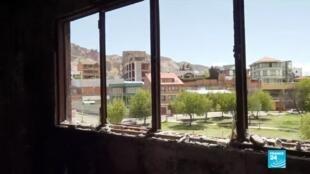 Maison saccagée à La Paz, en Bolivie, novembre 2019.