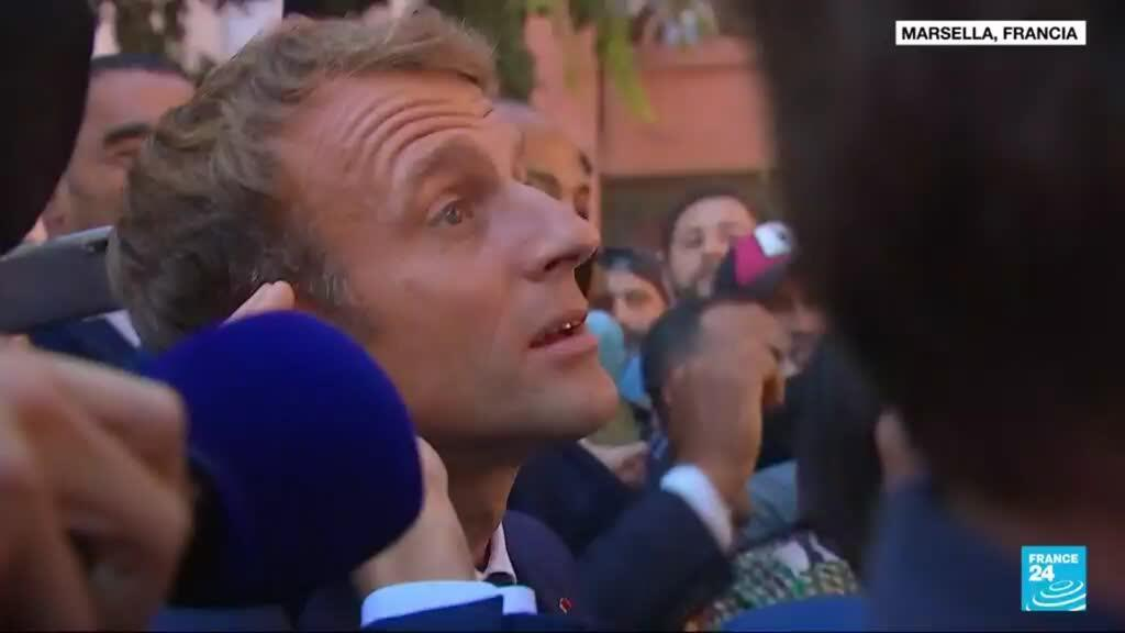 2021-09-02 02:03 Francia: presidente Macron de visita en Marsella, ciudad golpeada por la pobreza y el crimen
