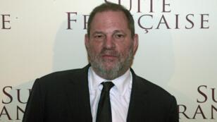 """Le producteur américain Harvey Weinstein lors de l'avant-première du film """"Suite française"""", le 10 mars 2015."""