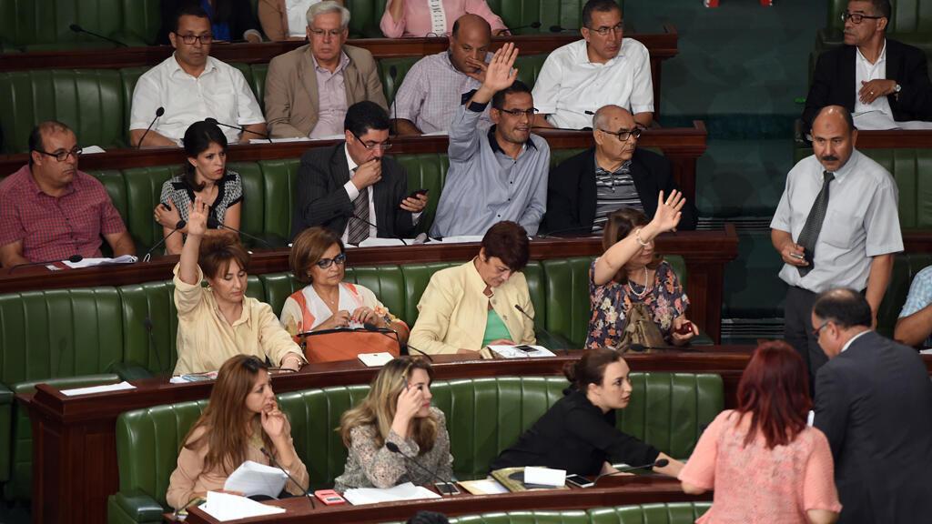 Des députés de Nidaa Tounès, le 24 juillet 2015.