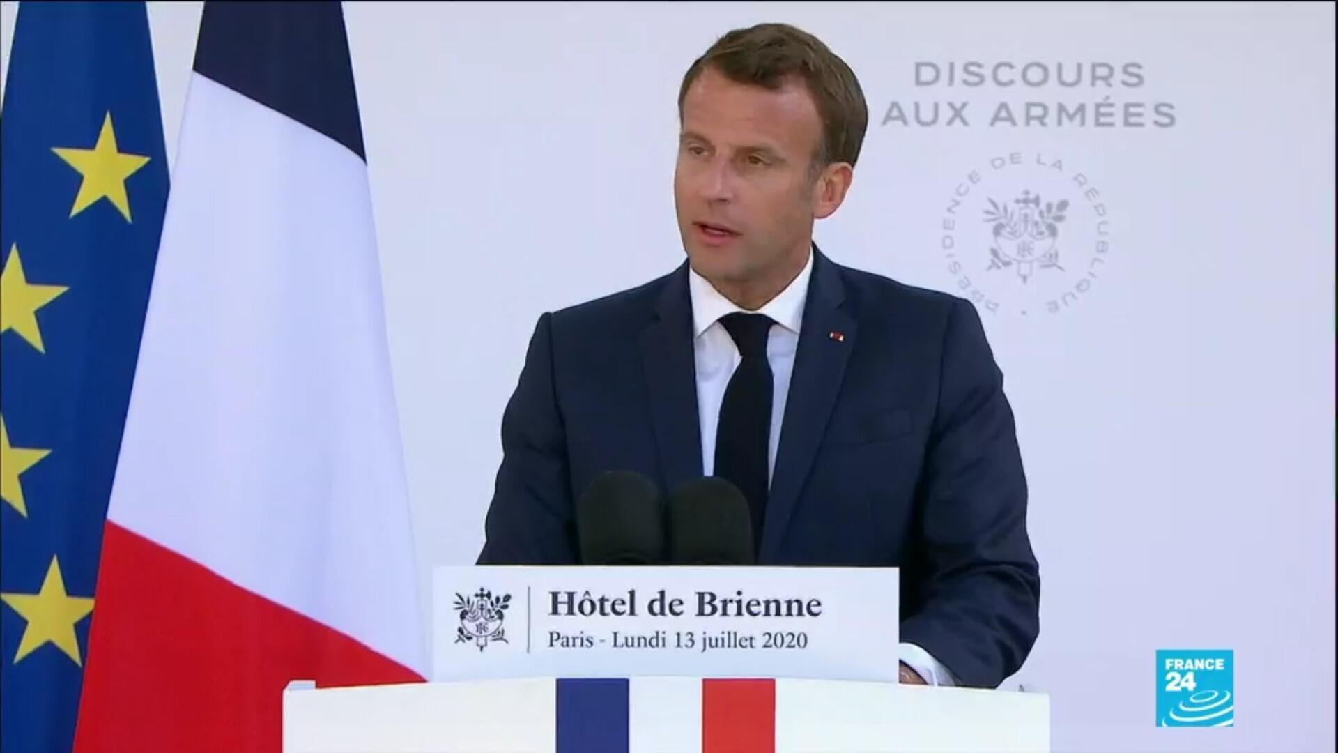 Macron speaks on the eve of Bastille Day