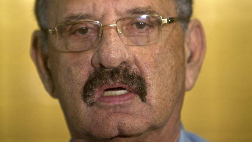 Fotografía de archivo del diputado Jacinto Suárez durante una rueda de prensa en Managua, Nicaragua, el 5 de febrero de 2014.