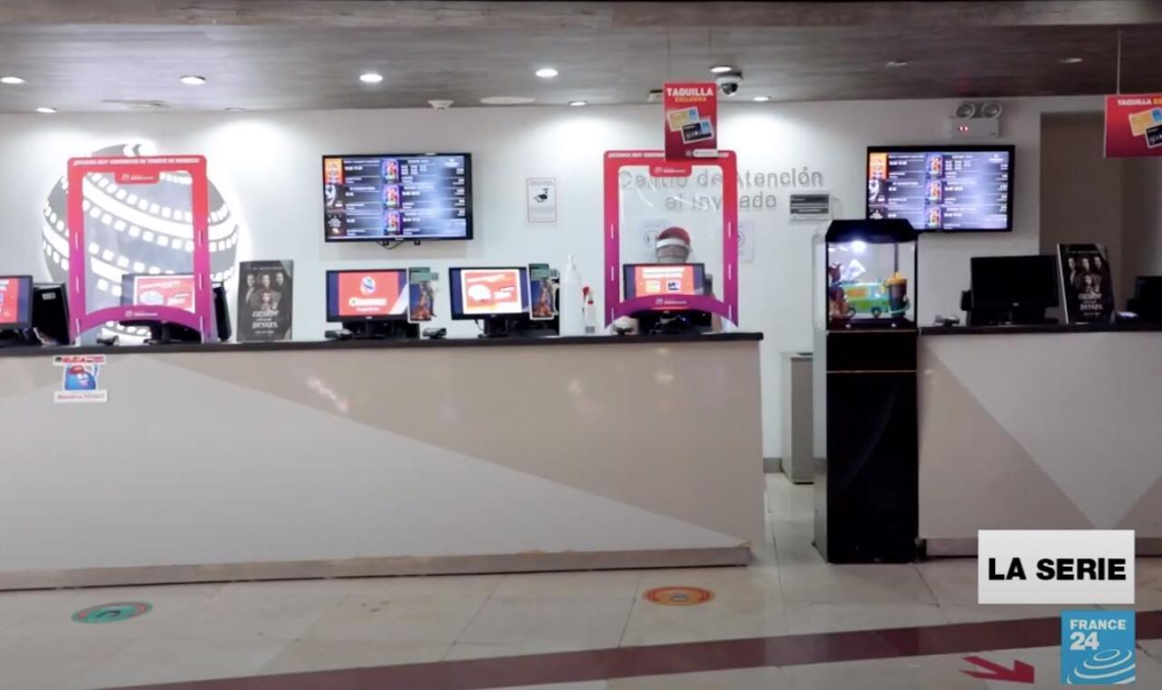 Una de las salas de cine de Ciudad de México, México, en medio de la pandemia.