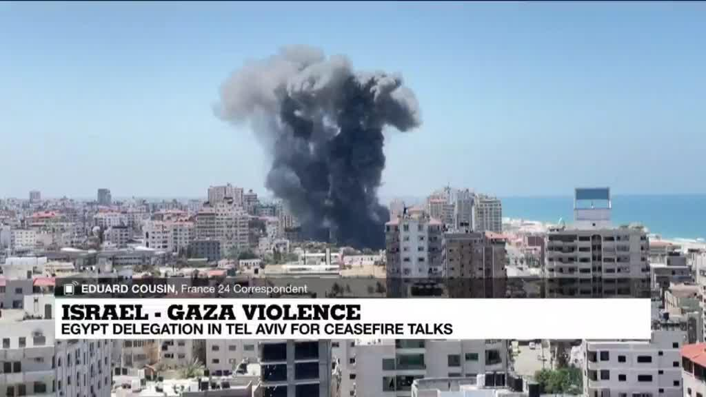 2021-05-13 14:33 Egypt delegation arrive in Tel Aviv for ceasefire talks with Hamas, Israel