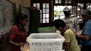 Ballot boxes were being set up at polling stations in Antananarivo on the eve of the presidential elections