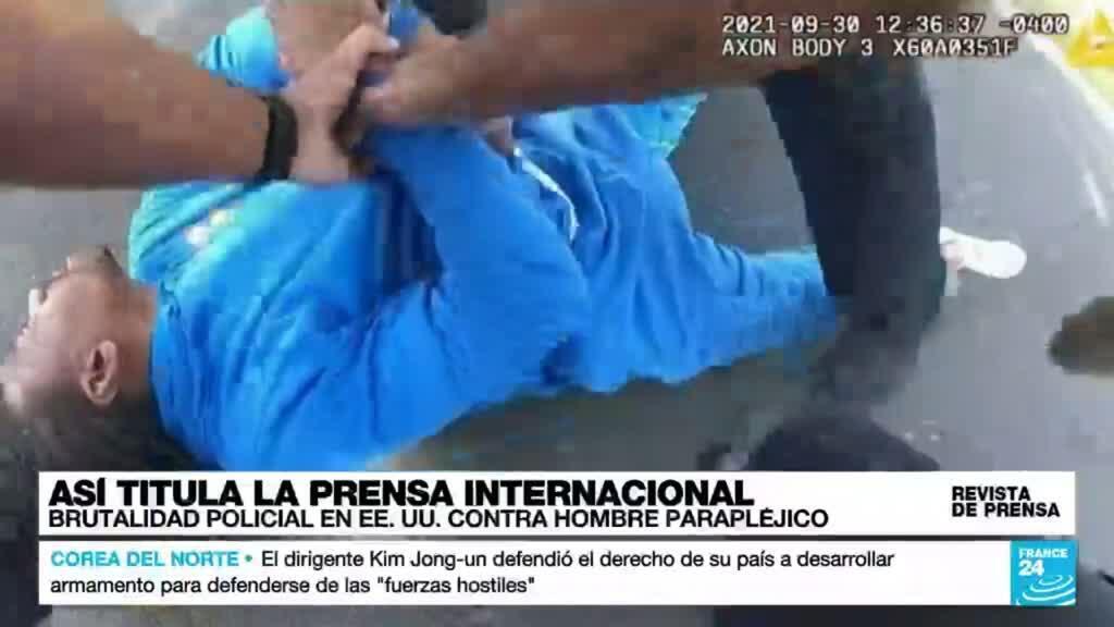 """Captura de la filmación registrada con la cámara corporal de uno de los agentes implicados en el caso de """"brutalidad policial"""""""