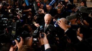 مبعوث الأمم المتحدة إلى سوريا ستافان دي ميستورا في اختتام محادثات أستانة