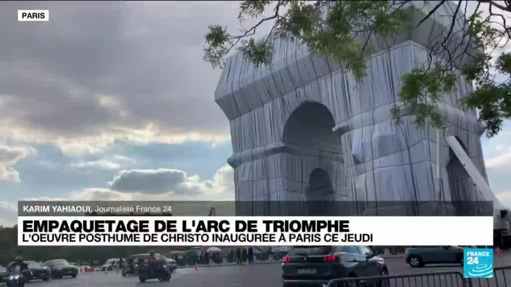 2021-09-16 17:00 Empaquetage de l'Arc de Triomphe : l'œuvre posthume de Christo inaugurée à Paris