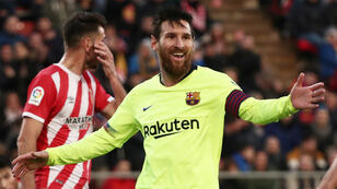 Leo Messi, la star argentine du Barça, a inscrit son 19e but en 19 matches de Liga.