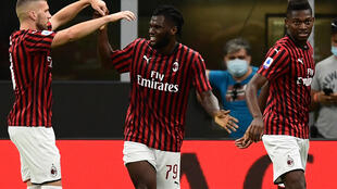 AC Milan's Franck Kessie found the net for the third consecutive Serie A game