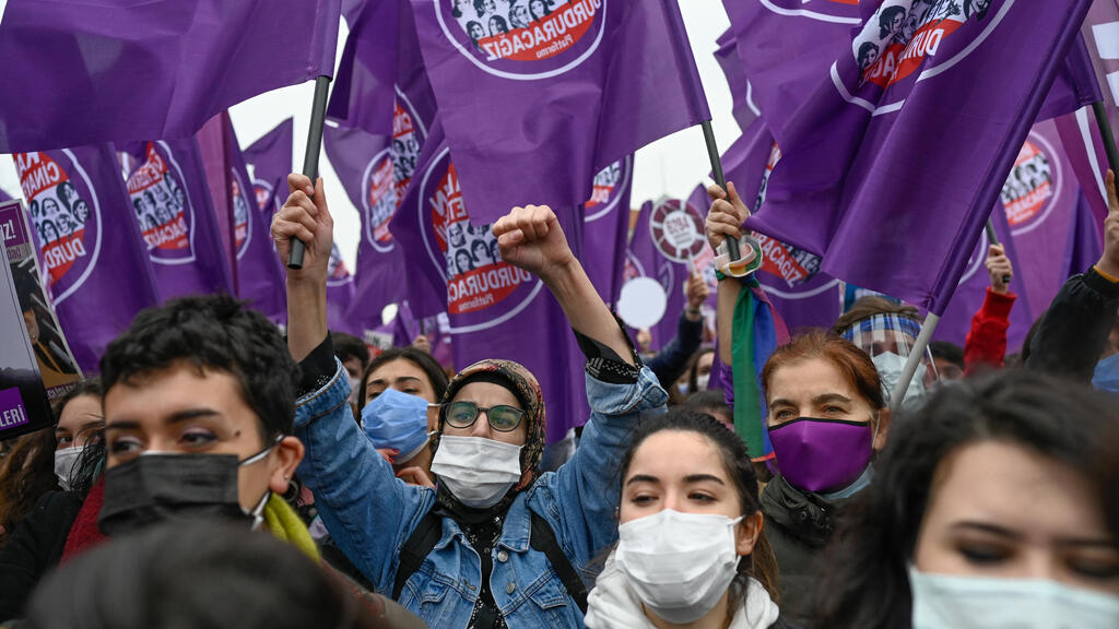 Women protest Erdogan's withdrawal from Istanbul Convention on gender-based violence