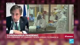 """2020-03-30 18:17 Coronavirus pandemic: """"The growth of the virus is slowing down"""", Vice president of Lombardy tells FRANCE24"""