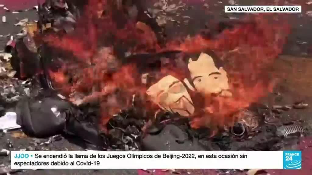 2021-10-18 14:09 El Salvador: cerca de 4.000 personas protestaron en contra del presidente Nayib Bukele