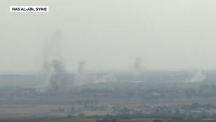 Des combats ont éclaté de manière sporadique vendredi matin à Ras al-Aïn, ville frontalière  entre la Syrie et la Turquie.