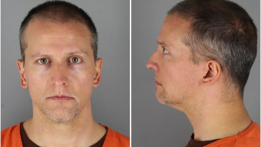 El ex oficial de policía de Minnesota Derek Chauvin posa en una combinación de fotografías de reserva en la Cárcel del Condado de Hennepin en Minneapolis, Minnesota, EE. UU. 31 de mayo de 2020. Foto tomada el 31 de mayo de 2020.