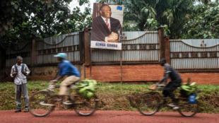 Devant la résidence de Jean-Pierre Bemba à Gemena, le 30 juillet 2018.
