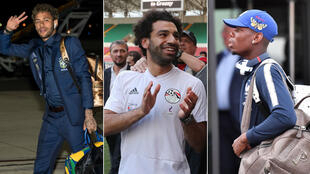 Le Brésilien Neymar, l'Égyptien Mohamed Salah et le Français Paul Pogba.