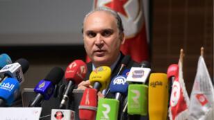 Nabil Baffoun, président de l'instance chargée des élections en Tunisie, a tenu une conférence de presse, mardi 30 juillet, pour annoncer la date de la présidentielle anticipée.