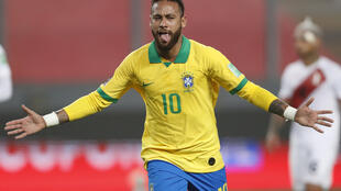 Neymar scored a hat-trick for Brazil against Peru in World Cup qualifying