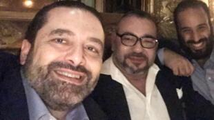 صورة نشرها رئيس الوزراء اللبناني سعد الحريري على حسابه على تويتر في 9 أبريل/نيسان 2018