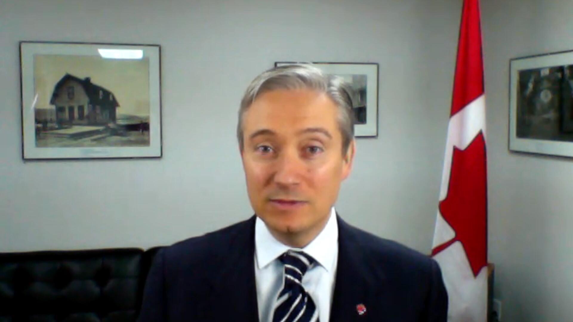François-Philippe Champagne, ministre des Affaires étrangères du Canada