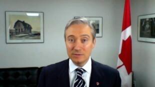 François-Philippe Champagne, ministre des Affaires étrangères du Canada, le 10 juin 2020.