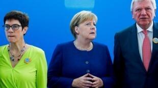 Angela Merkel en la sede de su partido, CDU, el 15 octubre de 2018.