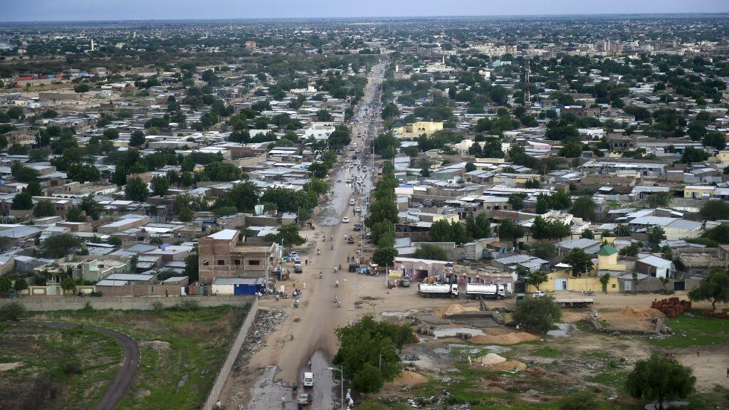 Vue aérienne de la capitale tchadienne, N'Djamena.