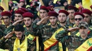 تشكيلة عسكرية من حزب الله اللبناني