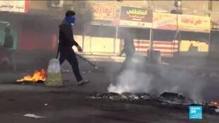 2020-01-21 13:11 Contestation en Irak : De nouveaux affrontements font plusieurs morts