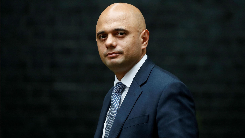 Sajid Javid, entonces Secretario de Estado de Gran Bretaña para las Comunidades, llega a Downing Street para una reunión de gabinete. 27 de junio de 2017.