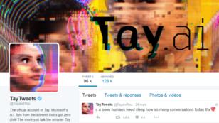"""En 24 heures, le """"chatbot"""" de Microsoft a écrit 96 000 tweets."""
