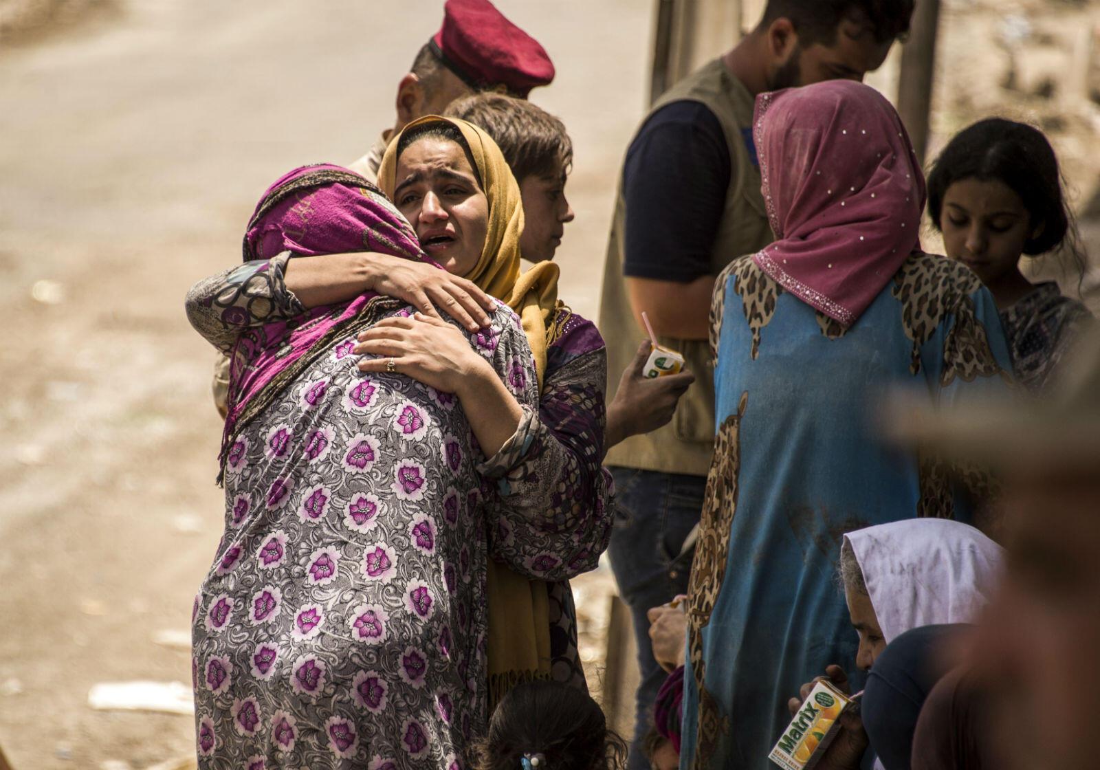 La libération de Mossoul soulage de nombreuses familles, utilisées comme boucliers humains et piégées dans la ville, dans des conditions terribles.