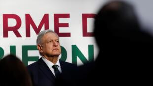 El presidente de México, Andrés Manuel López Obrador (AMLO), presentó su Segundo Informe de Gobierno el 1 de septiembre de 2020 desde el Palacio Nacional en Ciudad de México.