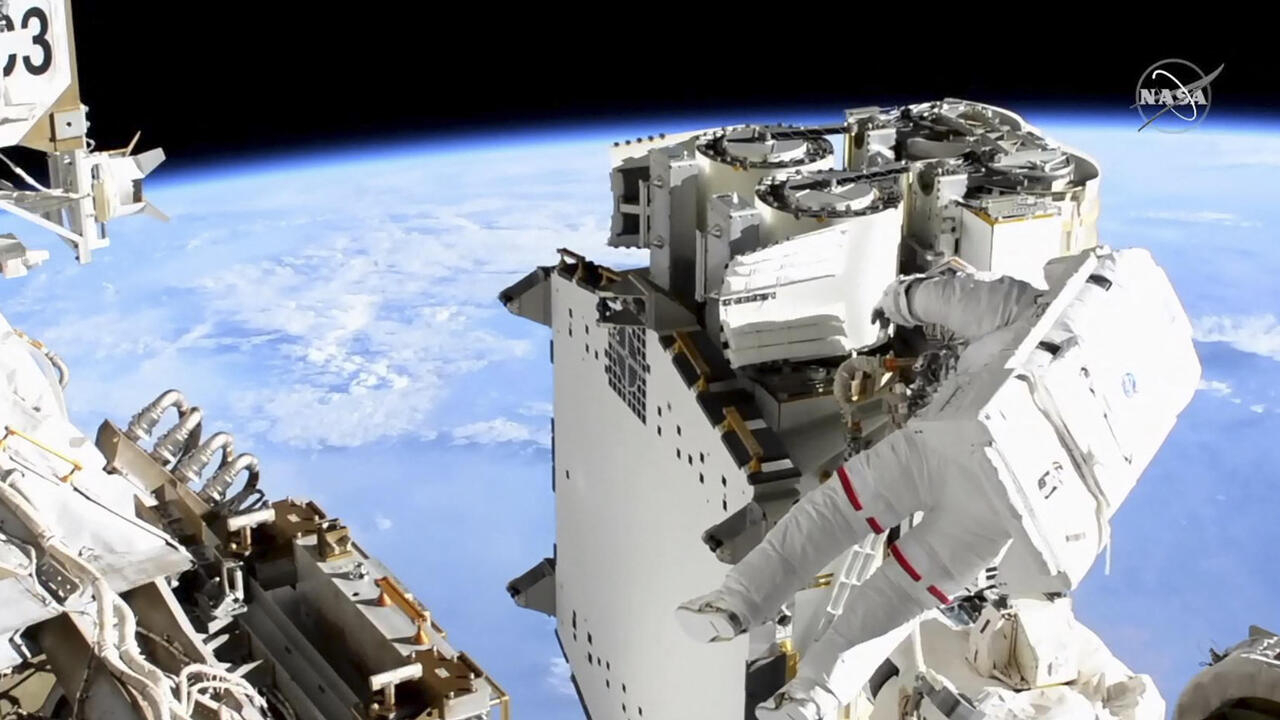 Astronauts Pesquet, Kimbrough tackle ISS solar panel work in new spacewalk