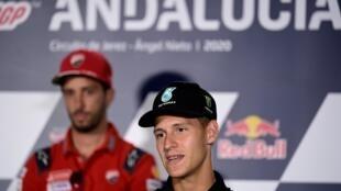 Fabio Quartararo lors d'une conférence de presse le 23 juillet 2020 à Jérez, en Espagne, avant le Grand Prix d'Andalousie de MotoGP