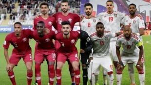 """من يكسب تأشيرة المرور للنهائي، """"الأبيض"""" الإماراتي أم """"العنابي"""" القطري؟ 2019/01/29."""