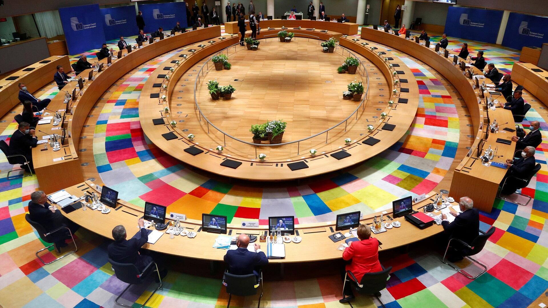 اجتماع لقادة دول الاتحاد الأوروبي، 17 يوليو/تموز 2020.