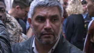 El exfrentista Ricardo Palma Salamanca en el Palacio de Justicia de París, el 10 de octubre de 2018.