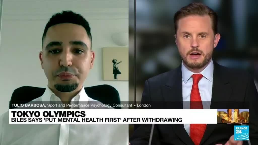 2021-07-28 16:08 Tokyo Olympics: Biles says 'put mental health first' after withdrawing