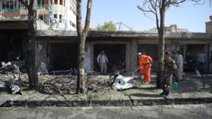 L'attaque à la voiture piégée a eu lieu dans une rue commerçante de l'ouest de Kaboul, le 24 juillet 2017.