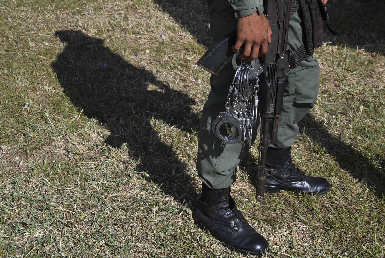 Un gardien de prison de l'État d'Aragua, au Venezuela, le 1erdécembre2018.