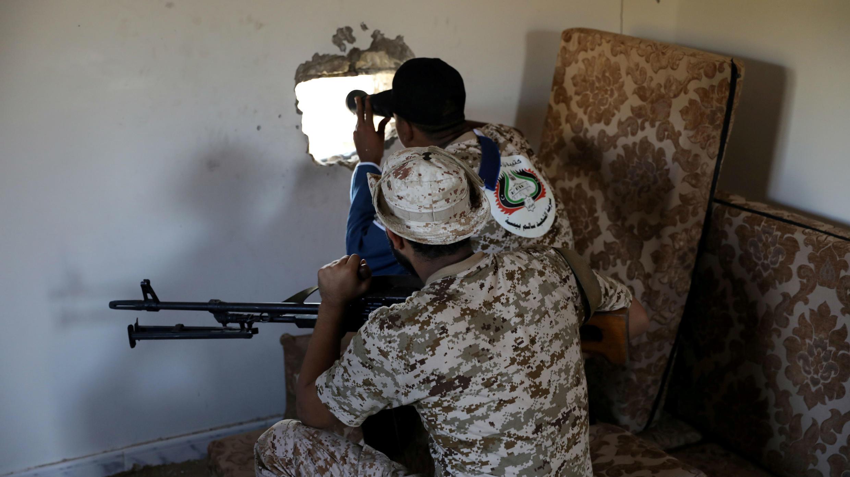 Foto de archivo de miembros del Ejército del Gobierno de Libia reconocido por la ONU en Trípoli. 14 de octubre de 2019.