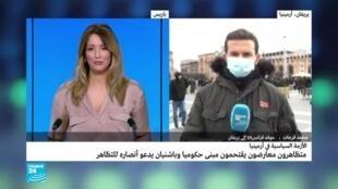 محمد فرحات موفد فرانس24 إلى يريفان
