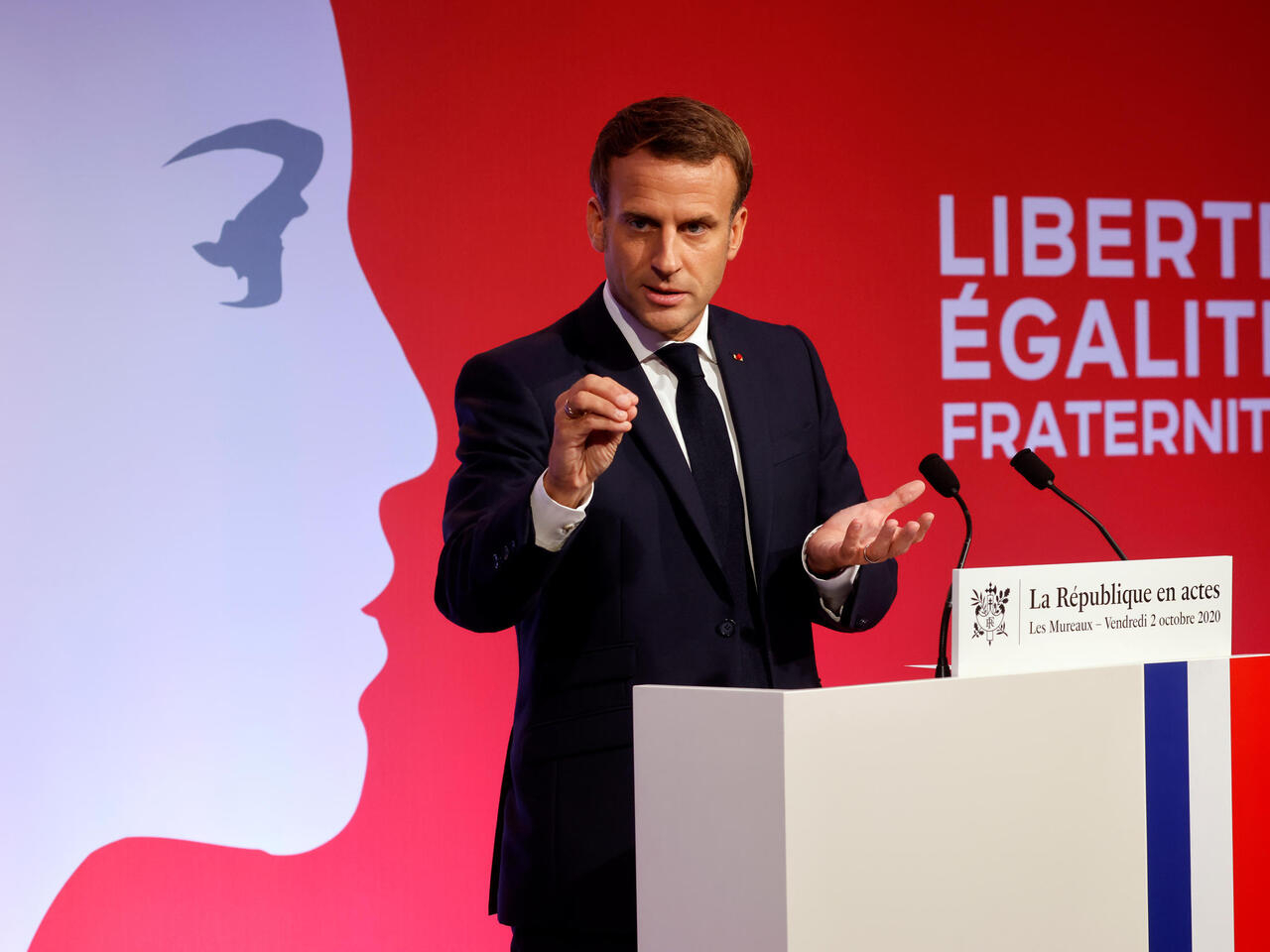Macron outlines plan to fight 'Islamist separatism' in France announcing anti-separatism bill