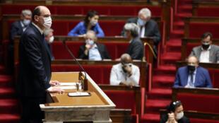 Le Premier ministre, Jean Castex, devant l'Assemblée nationale, le 9 mars 2021.