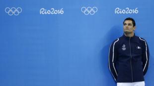 Florent Manaudou, médaillé d'argent sur le 50 m nage libre et sur le relais 4x100m nage libre aux JO de Rio.