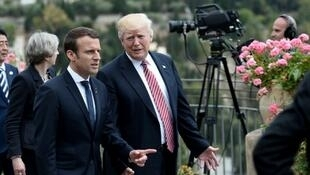 Le président français, Emmanuel Macron, et son homologue américain Donald Trump au sommet du G7, en Sicile, le 26 mai 2017