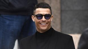 Le joueur de football Cristiano Ronaldo à la sortie du tribunal de Madrid, le 22janvier2019.