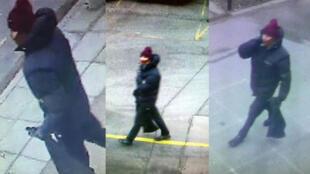 La police danoise recherche un suspect qu'elle soupçonne d'être l'auteur de l'attaque. Elle a diffusé plusieurs clichés.